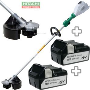 Hitachi CG 18 DSDL Akku-Gras-Trimmer mit 2x 18 V Li-Ionen Akkus