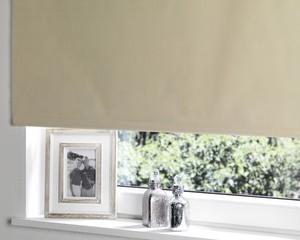 Verdunklungsrollo (80 x 175 cm, beige)