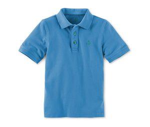 Piqué-Poloshirt, blau