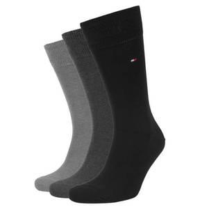 TOMMY HILFIGER   Socken, 3er-Pack, uni, breiter Bund