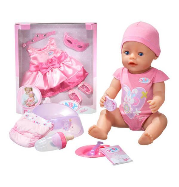 baby born sonderedition baby born interaktiv puppe deluxe prinzessinnen kleid von galeria. Black Bedroom Furniture Sets. Home Design Ideas