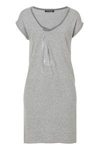 Betty Barclay - Damenkleid, Grey Melange - Weiß