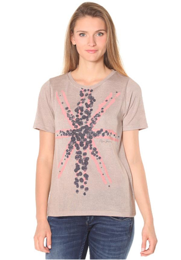20d1a5a3de92f0 Pepe Jeans Faye - T-Shirt für Damen - Beige von Planet Sports ...