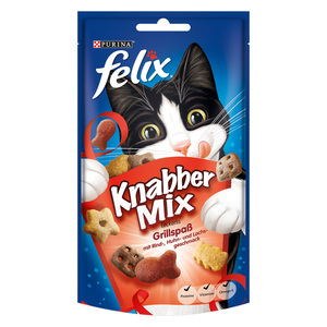 Felix              Knabber Mix Leckerlis Grillspaß mit Rind-, Huhn- & Lachsgeschmack
