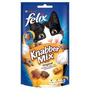 Felix              Knabber Mix Original mit Huhn-, Leber- & Truthahngeschmack