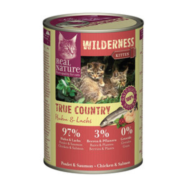 real nature wilderness kitten 6x400g von fressnapf ansehen. Black Bedroom Furniture Sets. Home Design Ideas