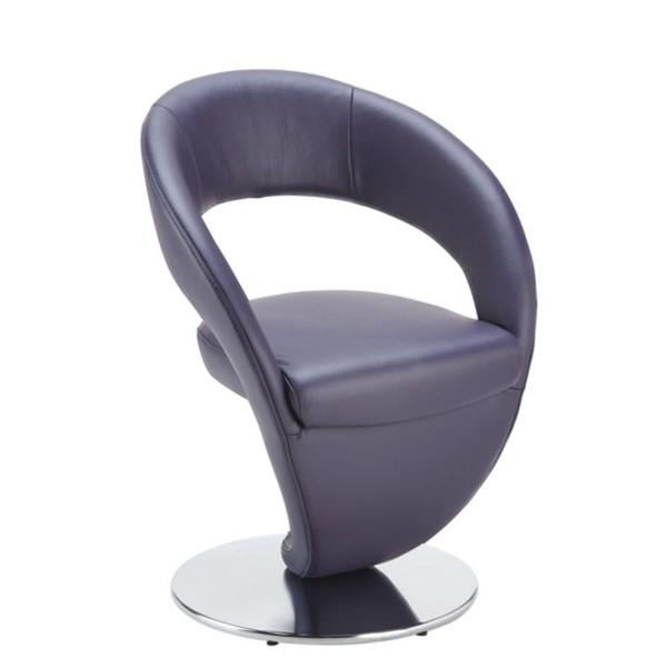 stuhl in edelstahl dickleder longlife leder nappaleder brombeere von xxxl f r 599 ansehen. Black Bedroom Furniture Sets. Home Design Ideas