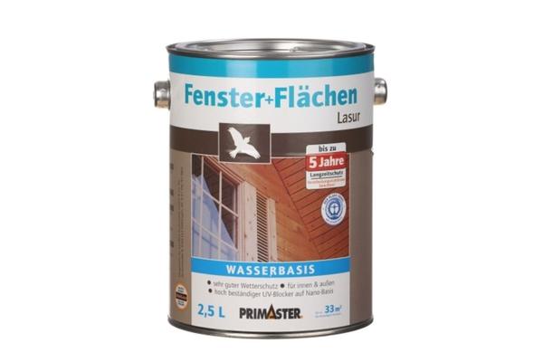 Primaster Fenster- und Flächenlasur 2,5 l, weiss