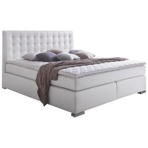 BOXSPRINGBETT  in Textil Weiß