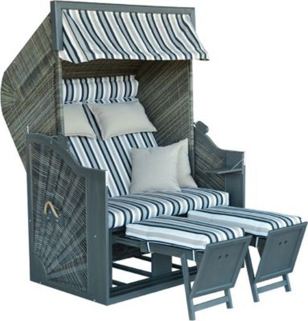 devries strandkorb trendy pure greenline 140 xl pe grau des 699 von ansehen. Black Bedroom Furniture Sets. Home Design Ideas