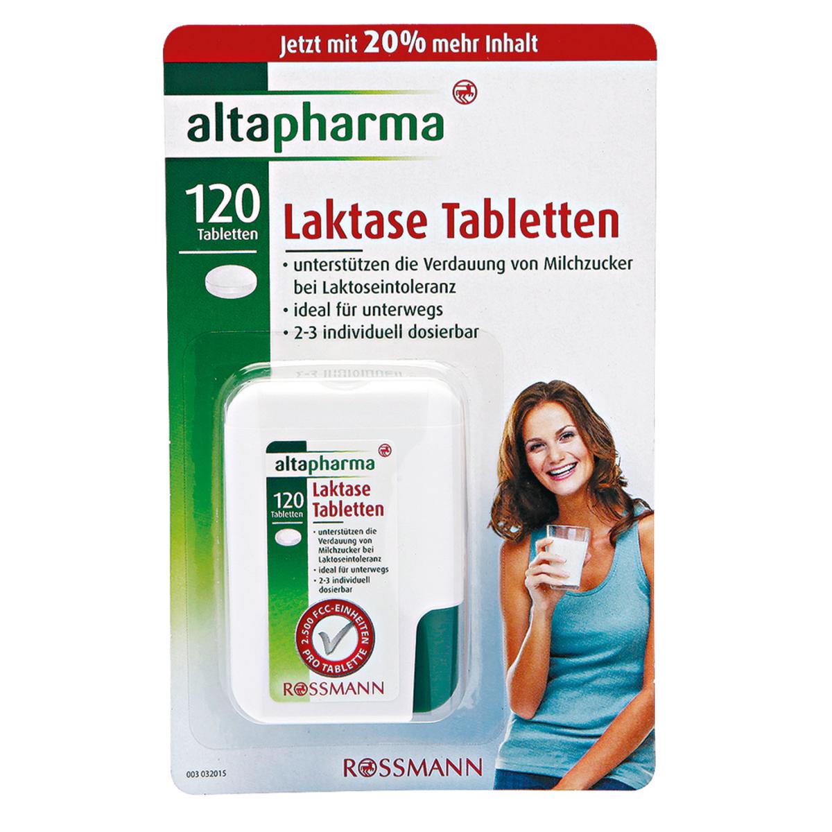 Bild 1 von altapharma              Laktase Tabletten im Spender