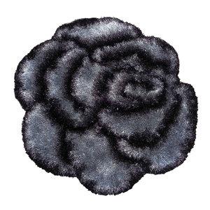 Teppich SHAGGY ROSE 3D - anthrazit - 80x80 cm