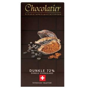 Chocolatier   Schweizer Schokolade - Dunkel 72% 100g