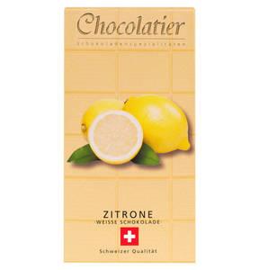 Chocolatier   Schweizer Schokolade - Weiß mit Zitrone 100g