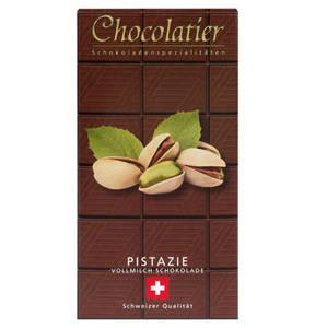 Chocolatier   Schweizer Schokolade - Vollmilch plus Pistazie 100g