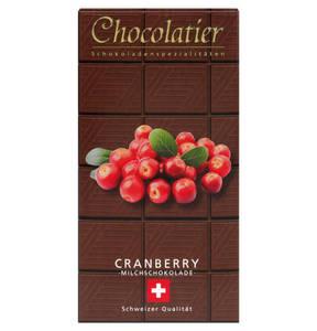 Chocolatier   Schweizer Schakolade - Vollmilch-Cranberry 100g