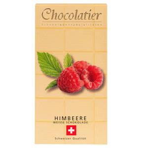 Chocolatier   Schweizer Schokolade - Weiß plus Himbeere 100g