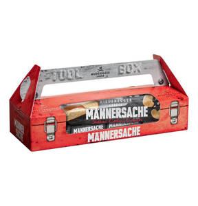 """NIEDEREGGER   Toolbox """"Männersache"""" Schokoladenauswahl 275g"""