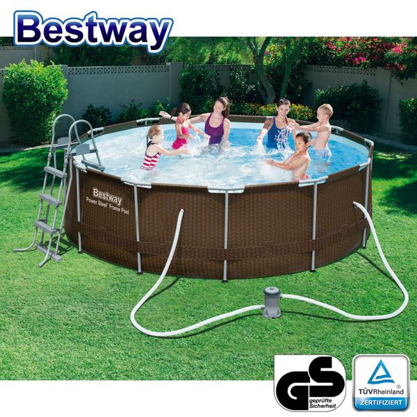 bestway rattan frame pool 366x100cm von thomas philipps. Black Bedroom Furniture Sets. Home Design Ideas