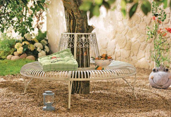 gartenbank rund metall von strauss innovation f r 299 ansehen. Black Bedroom Furniture Sets. Home Design Ideas