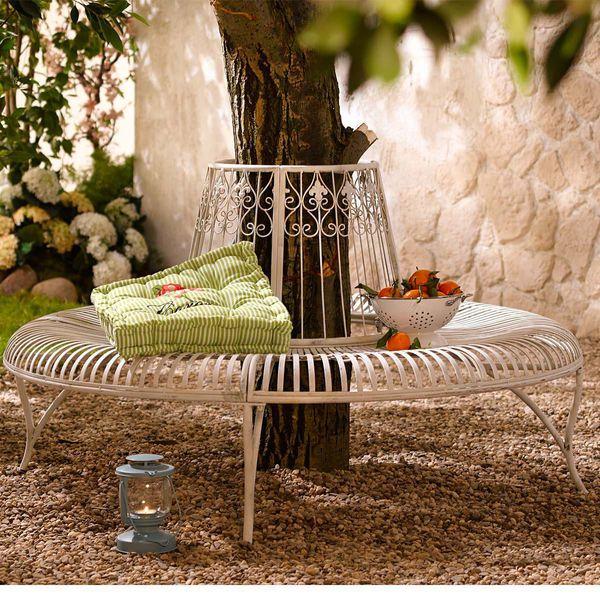 gartenbank rund metall von strauss innovation f r 299. Black Bedroom Furniture Sets. Home Design Ideas