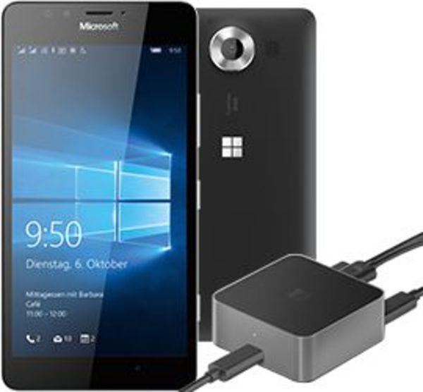 microsoft lumia 950 schwarz display dock von t mobile ansehen. Black Bedroom Furniture Sets. Home Design Ideas