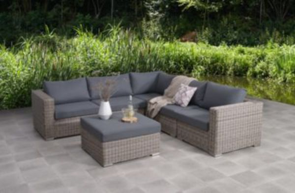 garden impressions polyrattan loungegruppe roosendaal inkl schutzh lle von ansehen. Black Bedroom Furniture Sets. Home Design Ideas