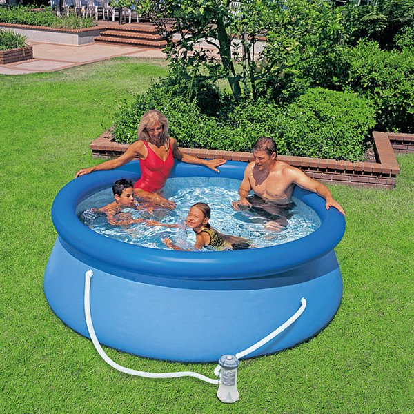 Intex easy pool set von bauhaus ansehen for Garten pool intex