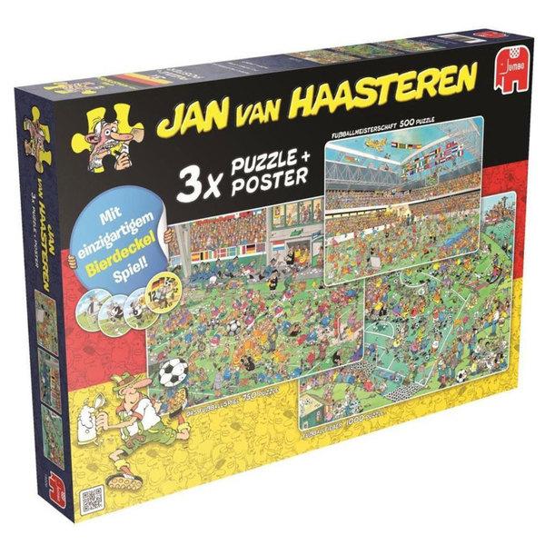 Jumbo Jan Van Haasteren 3 In 1 Fussball Puzzle Set Von Ansehen
