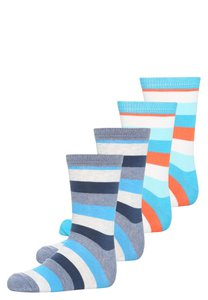 Melton 4 PACK Socken blue/turquoise/red