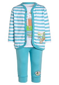 Blue Seven SET Strickjacke türkis
