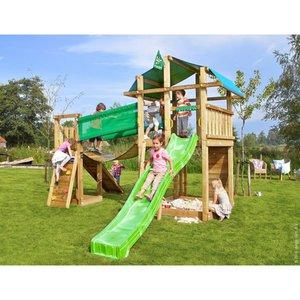 Jungle Gym Holzspielturm Fort Hängebrücke mit Rutsche Grün
