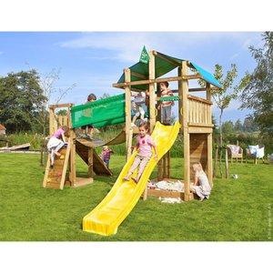 Jungle Gym Holzspielturm Fort Hängebrücke mit Rutsche Gelb