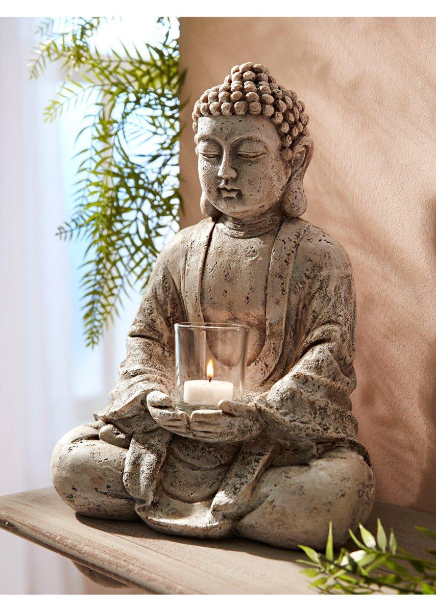 Bild 2 von Deko-Buddha mit Windlicht