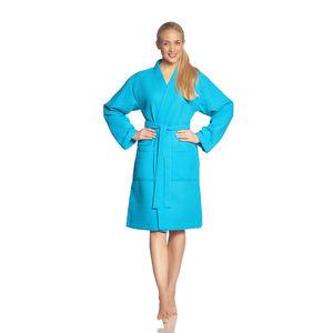 "Vossen Bademantel ""Rom"", turquoise, XL"