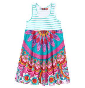 """Desigual   Kleid """"Dakar"""", Streifen-Design, florale Musterung, für Mädchen"""