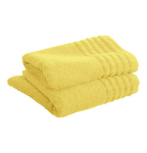 Möve  Handtuch Serie Karoborte, gelb