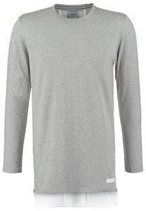 DRMTM Langarmshirt light heather grey/white