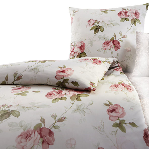 estella jerseybettw sche rosen wei rosa von karstadt. Black Bedroom Furniture Sets. Home Design Ideas