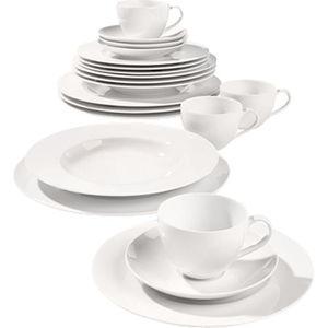 Villeroy & Boch Porzellan Kombi-Set Basic White, 20-teilig für 4 Personen