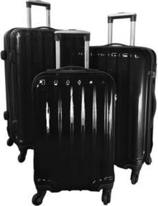 Polycarbonat-ABS-Kofferset Miami 3-teilig schwarz