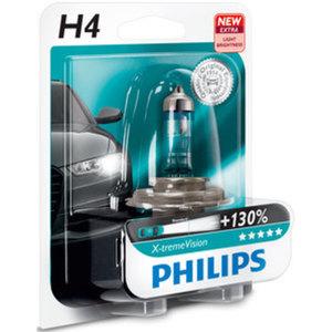 Philips X-tremeVision H4 +130%        Halogen-Lampe 60/55W