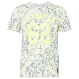 Print-Shirt mit Blätter-Motiv