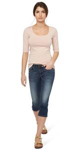 Capri-Jeans mit Stretch-Anteil