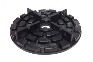 KANN Plattenlager für Feinsteinzeug   D = 120 mm, H = 20 mm, 4 mm Fuge, nicht höhenverstellbar