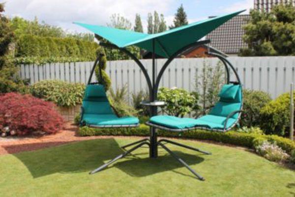leco schwingliege double swing t rkis von ansehen. Black Bedroom Furniture Sets. Home Design Ideas