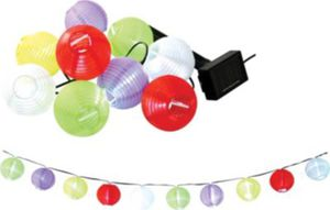 Garden Pleasure Solar LED-Lampion-Kette mit 10 Lampions