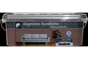 Primaster Wandfarbe Wohnambiente  espresso, 2,5 l