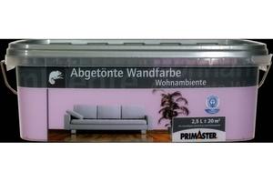Primaster Wandfarbe Wohnambiente violett, 2,5 l
