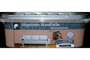 Primaster Wandfarbe Wohnambiente mocca, 2,5 l